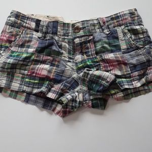 *5 for 25* AEO plaid multi color shorts size8